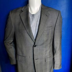 Tasso Elba Grey Glenn Plaid Sport Coat 38 Short